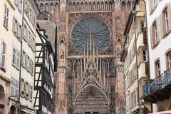 The Cathedral of Our Lady of Strasbourg Royalty Free Stock Image