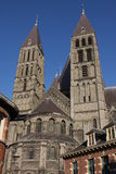 Cathedral  of Our Lady in Tournai, Belgium Stock Image