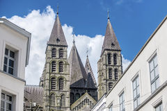 Cathedral of Our Lady of Tournai in Belgium Royalty Free Stock Photo
