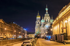 Cathedral of Our Savior on Spilled Blood in St. Petersburg Royalty Free Stock Photo