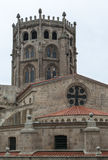 Cathedral of Ourense (Spain). Tower and Apse of Ourense Cathedral (Spain Stock Photos