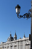 Cathedral and palacio real of madrid Stock Images