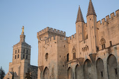 Cathedral and Palais des Papes Palace; Avignon Stock Image