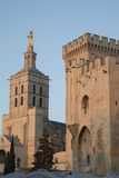 Cathedral and Palais des Papes Palace; Avignon Royalty Free Stock Photo