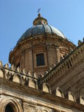 Cathedral of Palermo. The dome of a Catholic church in Palermo, Sicily exhibiting a baroque style Royalty Free Stock Image