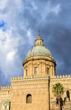 Cathedral of Palermo. Palermo's historic cathedral dedicated to the Virgin Maria. A splendid architecture built in different styles Stock Photos