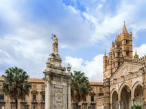 Cathedral of Palermo. Palermo's historic cathedral dedicated to the Virgin Maria. A splendid architecture built in different styles Stock Photo