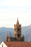 Cathedral of palermo, the bell tower with spiers Royalty Free Stock Photo