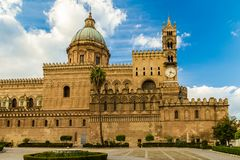 The Cathedral of Palermo. Is an architectural in Palermo, Sicily  Italy. It is characterized by the presence of different styles Royalty Free Stock Image