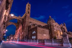 CATHEDRAL OF PALERMO, SICILY. CATHEDRAL OF PALERMO, CITY OF PALERMO SICILY, ITALY Stock Image