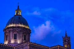 CATHEDRAL OF PALERMO, SICILY. CATHEDRAL OF PALERMO, CITY OF PALERMO SICILY, ITALY Royalty Free Stock Photography