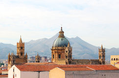 Cathedral of palermo, the dome and bell towers Stock Image