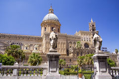 Cathedral of Palermo front Royalty Free Stock Images