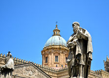 Cathedral of Palermo. Palermo majestic Cathedral of Saint Virgin Mary Assumption Stock Photography