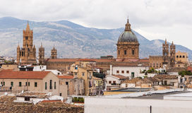 The Cathedral of Palermo and roofs Royalty Free Stock Images