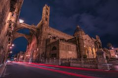 CATHEDRAL OF PALERMO, SICILY. CATHEDRAL OF PALERMO, CITY OF PALERMO SICILY, ITALY Stock Photography
