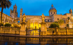 The cathedral of Palermo, Sicily. Italy. Early morning Stock Images