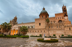 The cathedral of Palermo, Sicily. Italy. Early morning Royalty Free Stock Photo