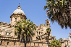 Cathedral of Palermo in Sicily, Italy Stock Images
