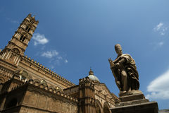 The Cathedral of Palermo, Sicily, southern Italy. The Cathedral of Palermo is an architectural complex in Palermo, Sicily, southern Italy Stock Image