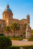 Cathedral of Palermo during sunset Royalty Free Stock Images
