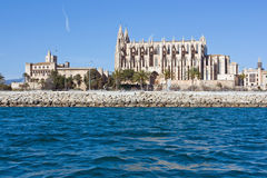 Cathedral in Palma. Cathedral of Palma de Mallorca, Spain Stock Photo