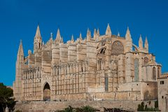 Cathedral of Palma. La Seu Cathedral of Palma is a Gothic Roman Catholic cathedral located in Palma, Majorca, Spain stock images