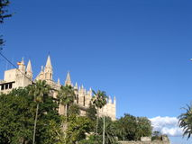 Cathedral in palma. Spain Royalty Free Stock Images