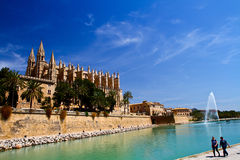 Cathedral of Palma de Majorca. The Cathedral of Palma de Majorca Royalty Free Stock Image