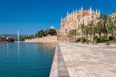Cathedral of Palma de Majorca. Historical gem in the center of Mallorca. The most visited place in Mallorca Stock Image