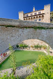 Cathedral at Palma de Majorca. Pool near Cathedral of Palma de Majorca Stock Images