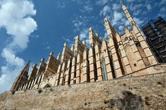 Cathedral of Palma de Majorca Stock Image
