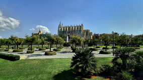 Cathedral of Palma de Majorca, Spain Stock Images