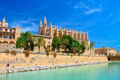 Cathedral of Palma de Majorca. View of Cathedral of Palma de Majorca Stock Photography