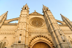 Cathedral of Palma de Mallorca. From the front Stock Photos