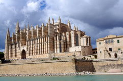 Cathedral of Palma de Mallorca Stock Image