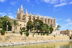 Cathedral. Palma de Mallorca. Balearic Islands in Spain Royalty Free Stock Image