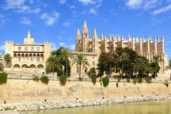 Cathedral. Palma de Mallorca. Balearic Islands in Spain Royalty Free Stock Photos