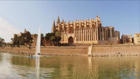 Cathedral of Palma de Mallorca stock footage