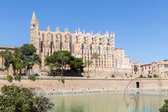 Cathedral in Palma de Mallorca. With blue sky Royalty Free Stock Images