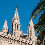 Cathedral of Palma de Mallorca. Details of the Cathedral of Palma de Mallorca, Spain Royalty Free Stock Images