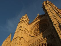 Cathedral of Palma de Mallorca. Main facade of the Cathedral of Palma de Mallorca, Spain Stock Image