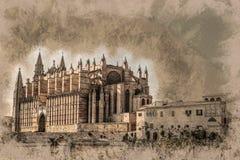 Cathedral of Palma de Mallorca. Royalty Free Stock Photography