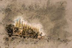 Cathedral of Palma de Mallorca. Stock Photos