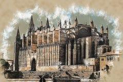 Cathedral of Palma de Mallorca. Stock Image