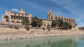 Cathedral in Palma de Mallorca, Spain. Panorama of the Cathedral in Palma de Mallorca, Spain Stock Photos
