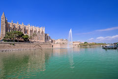The cathedral of Palma de Mallorca at summer day Stock Image