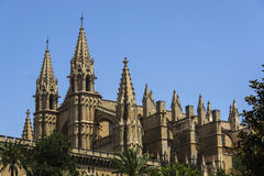 Cathedral in Palma de Mallorca Royalty Free Stock Images