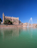The cathedral of Palma de Mallorca vertical at summer day Stock Photos