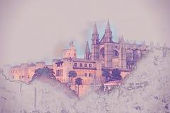 Cathedral of Palma de Mallorca. Stock Photo